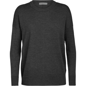 Icebreaker Shearer Sweat Col Ras-Du-Cou Femme, char heather